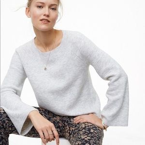 Textured bell sleeved sweater